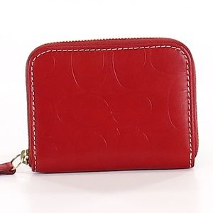 NWT Red Leather Coach Wallet